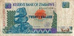 ZIMBABWE 20 DOLLARS 1997 P-7 - Zimbabwe