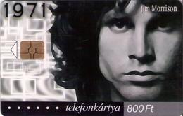 TARJETA TELEFONICA DE HUNGRIA. JIM MORRISON, HU-P-2001-17B. (022) - Música