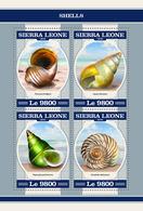 SIERRA LEONE 2018 - Shells - Mi 9439-42 - Schelpen