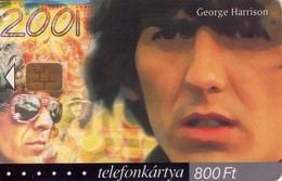 TARJETA TELEFONICA DE HUNGRIA. GEORGE HARRISON, HU-P-2002-04. (019) - Música