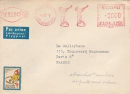 LSC 1959 - Affranchissement Mécanique Et Flamme VALIO Et Personnages - Cachet HELSINGFORS - VIGNETTE - Cartas