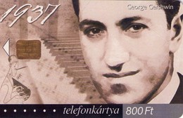 TARJETA TELEFONICA DE HUNGRIA. GEORGE GERSHWIN, HU-P-2002-14. (012) - Música