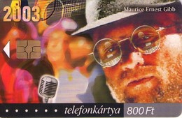 TARJETA TELEFONICA DE HUNGRIA. MAURICE ERNEST GIBB, HU-P-2003-06. (021) - Música