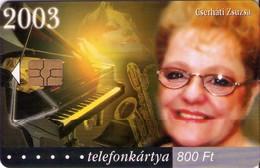 TARJETA TELEFONICA DE HUNGRIA. CSERHÁTI ZSUZSA, HU-P-2003-56. (020) - Música
