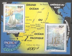 1997  Bloc Pacific '97  Navires à Voiles, Carte - Neufs