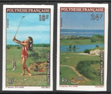 Non-dentelés  1974  Golf D'Atimaono  Yv 94-5  ** - Imperforates, Proofs & Errors