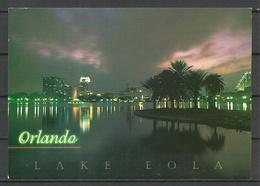 USA Post Card FLORIDA Lake Eola Orlando Sent 2000 From Germany With Stamp - Etats-Unis