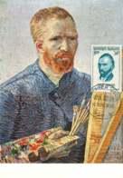 1956  Van Gogh  Au Chevalet Autoportrait   Yv 1087 - Maximum Cards