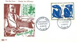 1961  Matisse  Nus Bleus  Yv 1320 - FDC