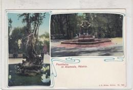 FOUNTAINS IN ALAMEDA, MEXICO. JG HETTON. CIRCA 1940s NON CIRCULEE - BLEUP - Mexico