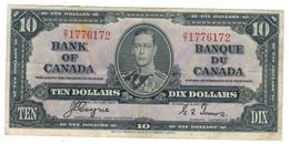 Canada , 10 Dollars. 1937. P-61c, Crisp VF - Canada
