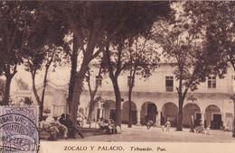 ZOCALO Y PALACIO, TEHUACAN. FOTO ELIAS, MEXICO. OBLITERE CIRCA 1937. NON CIRCULEE - BLEUP - Mexico