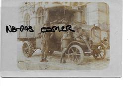 ZEEBRUGGE CARTE PHOTO 1917 CAMION GROS PLAN SOLDATS ALLEMANDS - Zeebrugge
