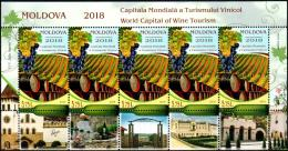 "Moldova 2018 ""Moldova - World Capital Of Wine Tourism"" MS Quality:100% - Moldova"
