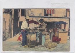 NAPOLI. COSTUMI. VENDITORI DI FRUTTA. MTP. CIRCA 1930s. ITALY - BLEUP - Napoli