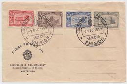 Uruguay AIRMAILS UNIVERSITY UNIVERSIDAD DE LA RPCA. FDC 1949 - Uruguay