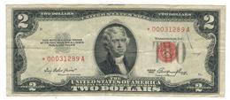 USA 2 Dollars 1953, STAR NOTE , P-380. Crisp F/VF - Small Size – Klein (1928-...)