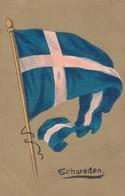 Flag Of Sweden Artist Image, 1900s/10s Vintage Postcard - Sweden