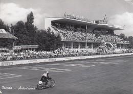 MONZA-AUTODROMO DI MONZA-GARA MOTOCICLISTICA-CARTOLINA VERA FOTOGRAFIA- VIAGGIATA IL 24-9-1956 - Monza