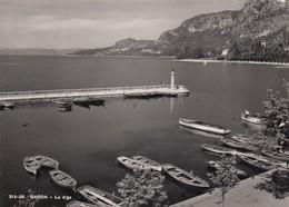 GARDA-VERONA-LAGO DI GARDA-LA DIGA-CARTOLINA VERA FOTOGRAFIA- VIAGGIATA IL 21-9-1952 - Verona
