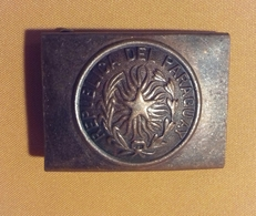 Ancienne Boucle De Ceinturon Républiqua Del Paraguay - Uitrusting
