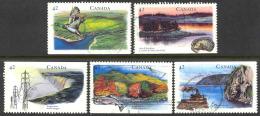 936) Canada Used 1992 Hertitage Rivers Set Complete - 1952-.... Regno Di Elizabeth II
