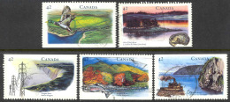 936 )Canada Used 1992 Hertitage Rivers Set Complete - Natura
