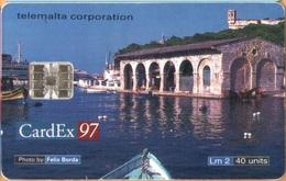 MALTA - MT-MLT-0045, Cardex 97, 40 Units, 10.000ex, 11/97, Used As Scan - Malta