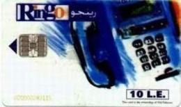 EGY-RINGO : RI02 10LE RINGO Telephone (transparant Card) MINT - Egypte
