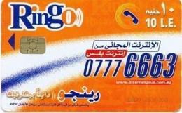 EGY-RINGO : RI29B 10LE RINGO 07776663 Rev. Crazy Frog (New Orga) USED - Egypt