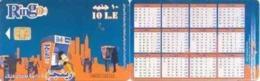 EGY-RINGO : RI71B 10LE RINGO 5 Phonecabins City/rev. Calendar 2009 USED - Egypt