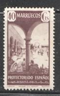 Marruecos  1941  Paisajes 40cts Larache Ed. 239 * - Spanish Morocco