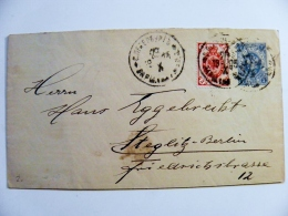 Old Cover From Russia Postal Stationery Sent From St.Petersbourg 1903 To Steglitz Berlin Germany - 1857-1916 Empire