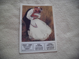 CARTE PUBLICITE ...COUPLE JEUNE MARIES - Noces