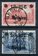 42723) DT.BESETZUNG Belgien # 8+9 Gestempelt GEPRÜFT Aus 1914, 40.- € - Occupazione 1914 – 18