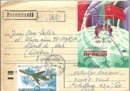LETTER RRUSIA  REGISTERED  TULA - Polar Exploradores Y Celebridades