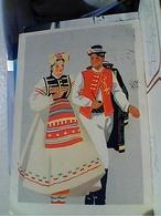 LUBIANA EX ITALIA  ILLUSTRATA  Costumi Adriatici LONGATICO Casa Mamma Domenica VB1957  GW4986 - Jugoslavia