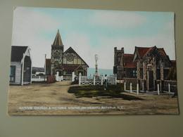 NOUVELLE ZELANDE ROTORUA NATIVE CHURCH & VICTORIA STATUE OHINEMUTU - Nouvelle-Zélande