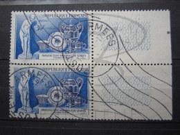 """VEND BEAUX TIMBRES DE FRANCE N° 1094 EN PAIRE + BDF , CACHET """" POSTE AUX ARMEES """" !!! - Used Stamps"""
