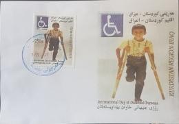Iraq KURDISTAN REGION 2016 FDC - Disabled Children, Mines - Irak