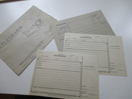 DDR / Deutsche Post Telegramm 3 Stück Und 1 Umschlag. 2x 2250 Usedom. Ungebraucht - [6] République Démocratique