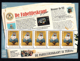 """Nederland 2018, Nvph ??, Mi Nr ??,  """"de Fabeltjeskrant """" Serie Van 5 Zegels, Uil, Owl - Periodo 2013-... (Willem-Alexander)"""