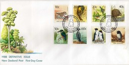 New Zealand > FDC 1988 DEFINITIVE ISSUE - Birds - FDC