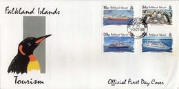Falkland Islands FDC - 1993 Tourism,penguins,ships - Falkland Islands