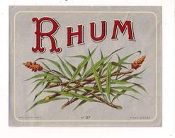 Etiquette   RHUM  - Imprimeur Plouviez - - Rhum