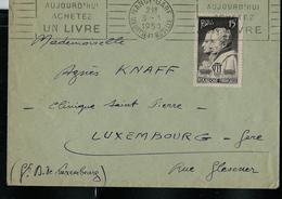 France: Envelop. Obl. Nancy-Gare 03/03/1950 Avec Fl.: Aujourd'hui Achetez UN LIVRE - Timbres