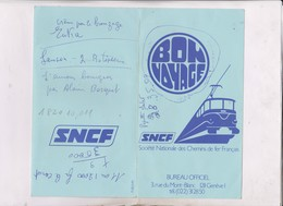 TICKET VOYAGE SNCF TRANS EUROP EXPRESS, GENEVE A BEZIERS En 1974! - Trenes