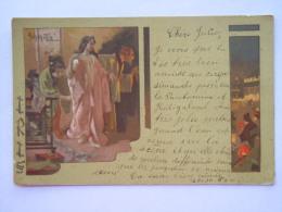 Illustator A. Hohenstein Serie Iris Theatre Theater Japonais Japans Geisha Circulée Gelopen 1900 - Theatre