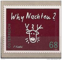 "2015 Austria Mi. 3242**MNH    Rentierkopf, Inschrift ""Why Nachten - 1945-.... 2ème République"