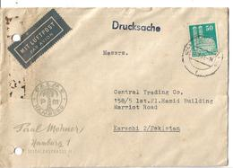 Germany Airmail Cover 50 Pf To Pakistan. - BRD